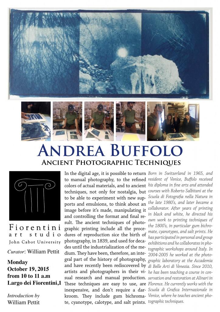 andrea Boffolo lecture studio art A3